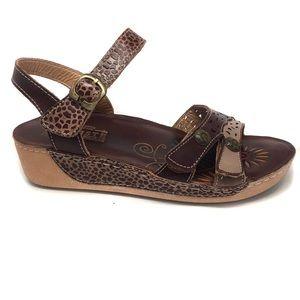 L'Artiste Spring Step Freja Leather Wedge Sandal